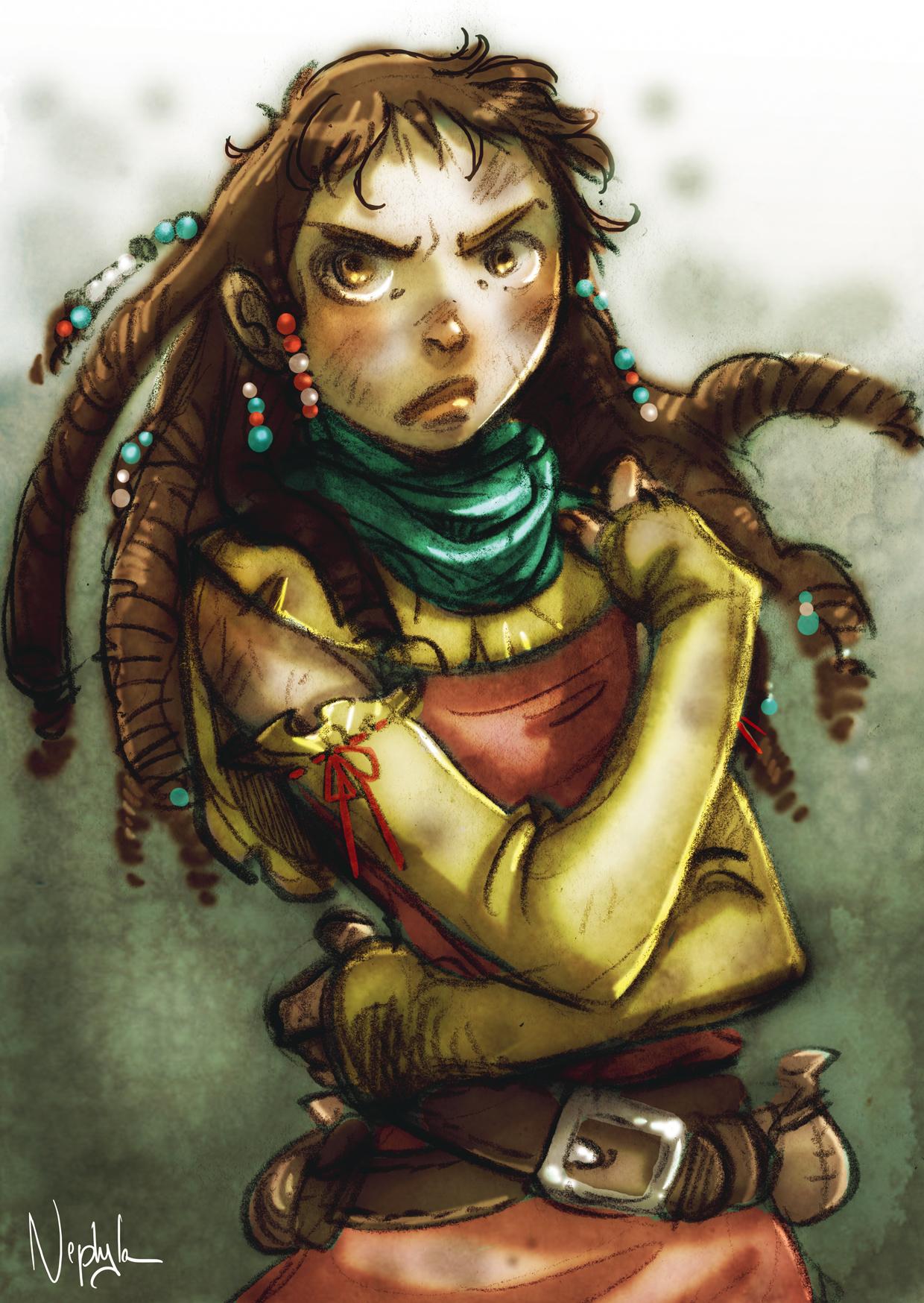 Mélisende par Nephyla