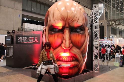 L'Attaque des Titans tête et cosplay