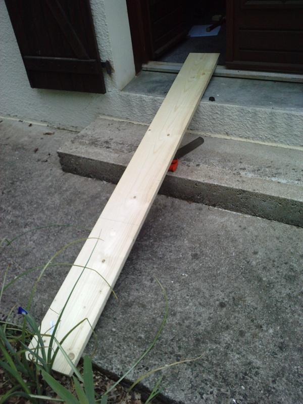 Planche initiale pour la lame de l'épée.