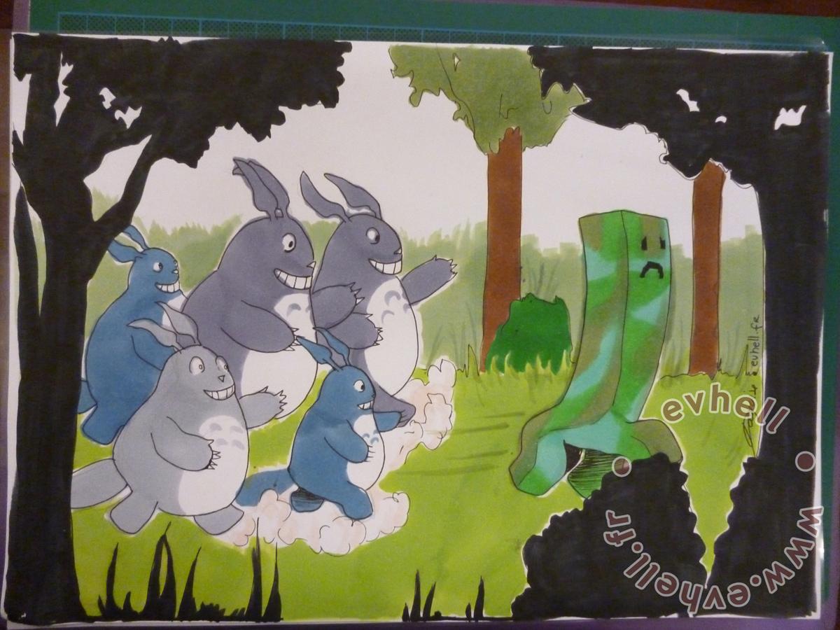 Dessin Totoro pour concours de dessin