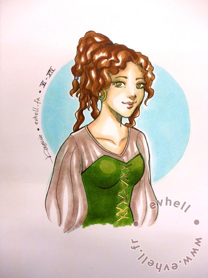 Dessin personnage Mélisende