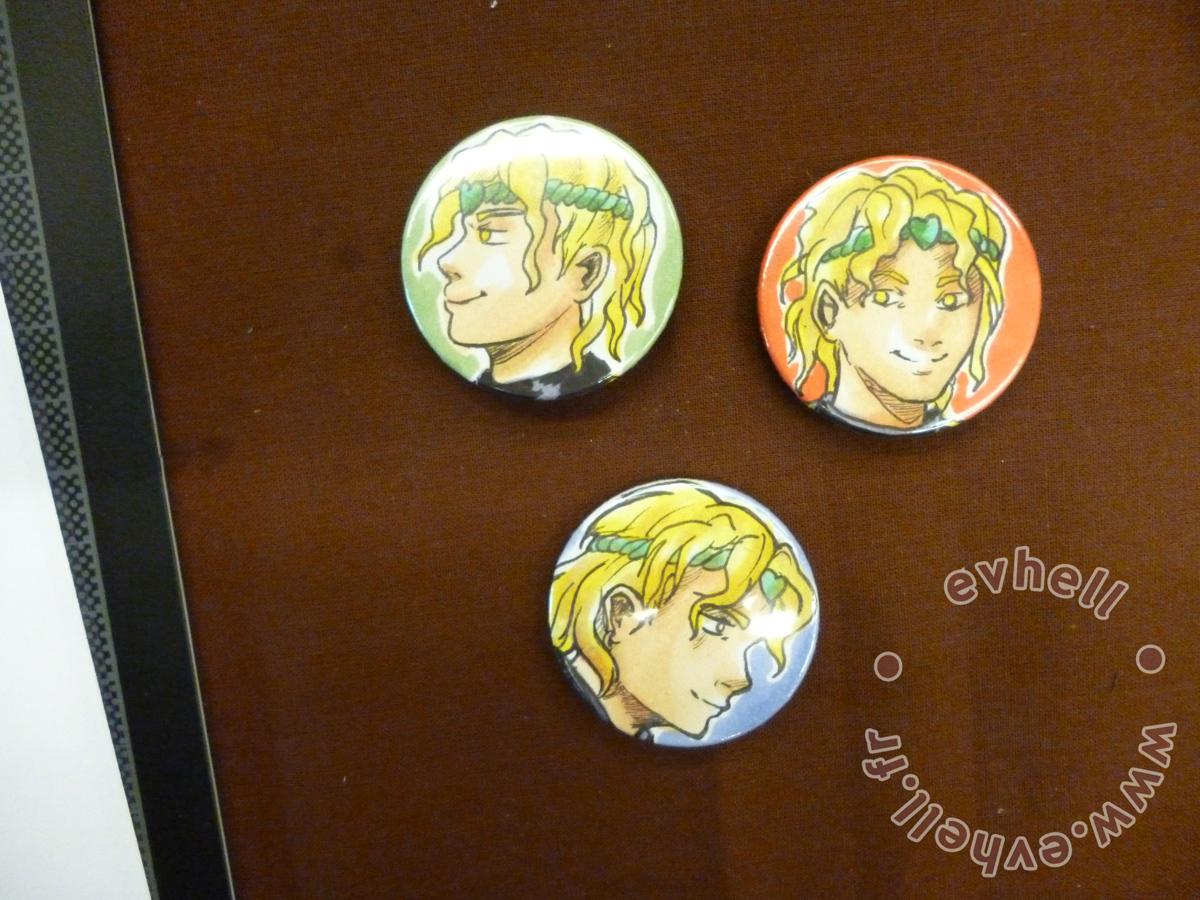 Badges customisés Dio