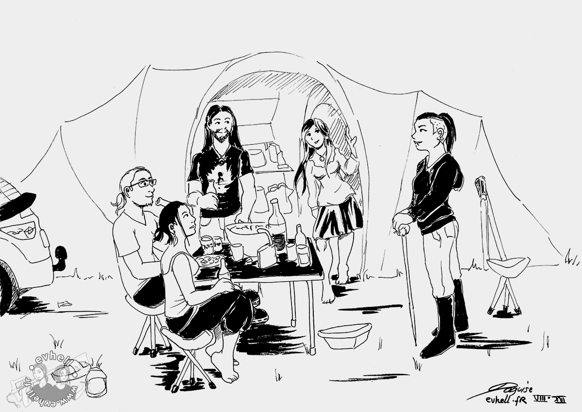 Dessin camping avec Chronicles from Utopia