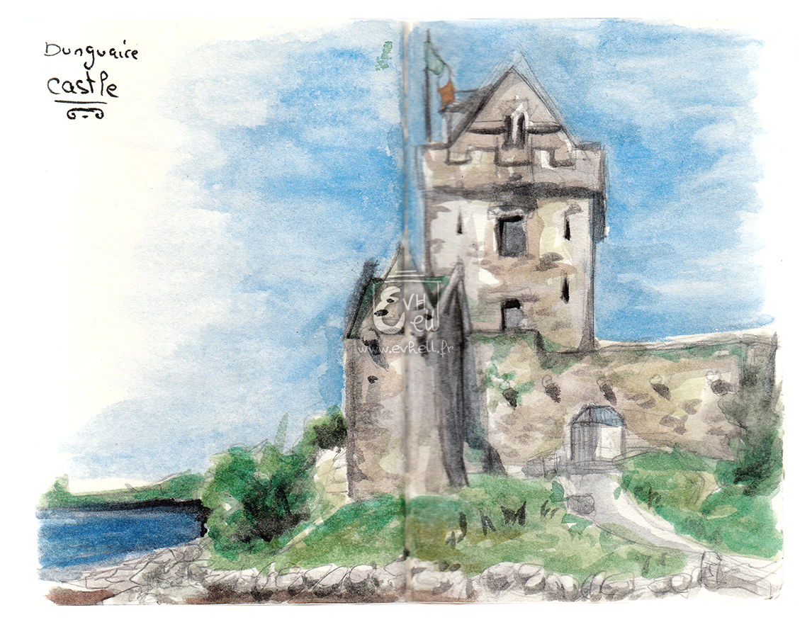 Aquarelle Irlande - Dunguaire Castle