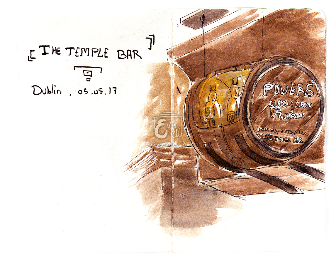 Aquarelle Irlande - The Temple Bar