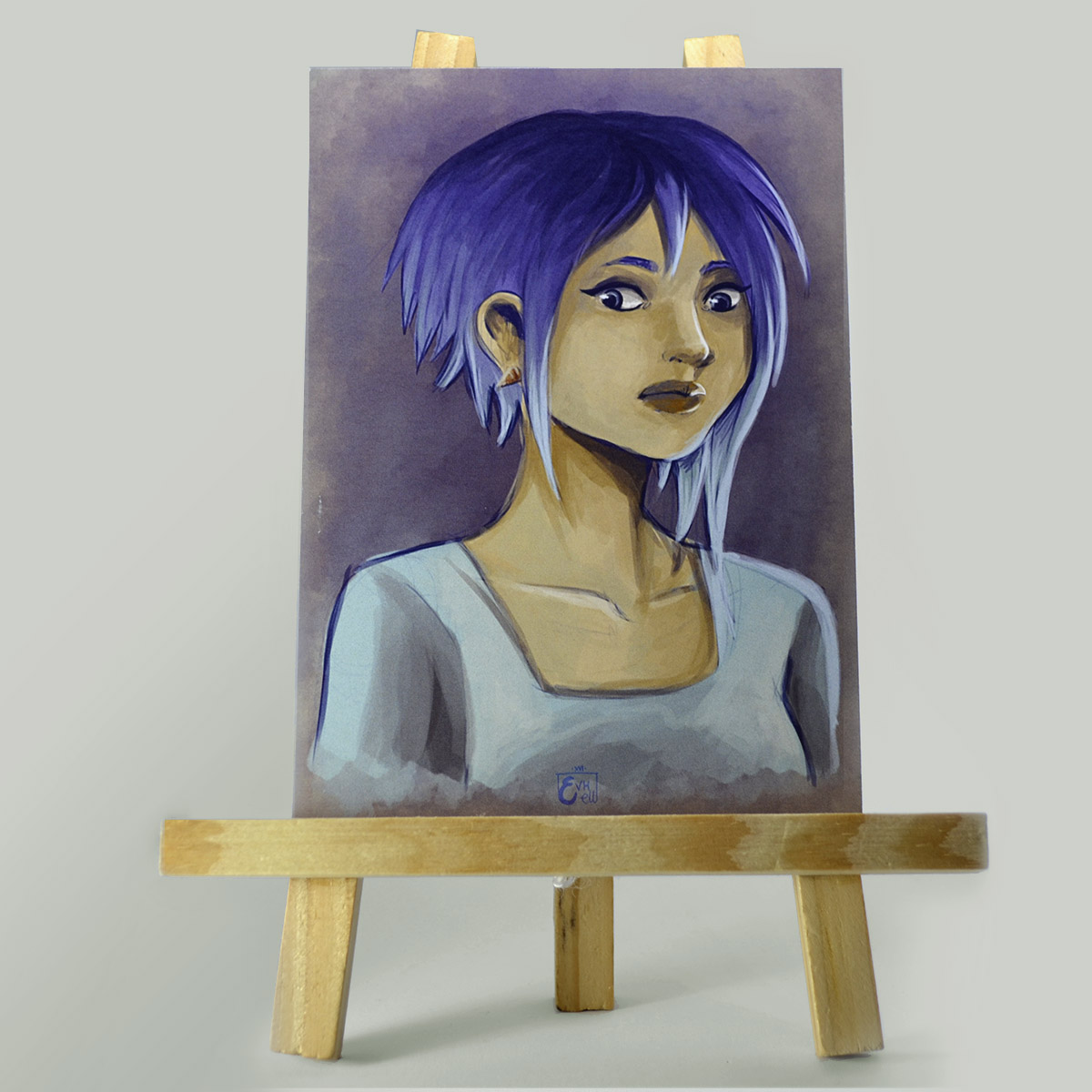 Carte Purple Hair – Original Character