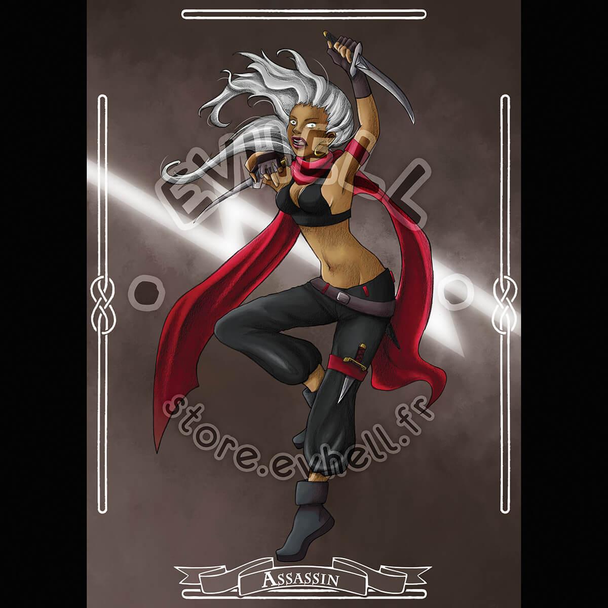 Carte RPG Assassin – Original Character HD