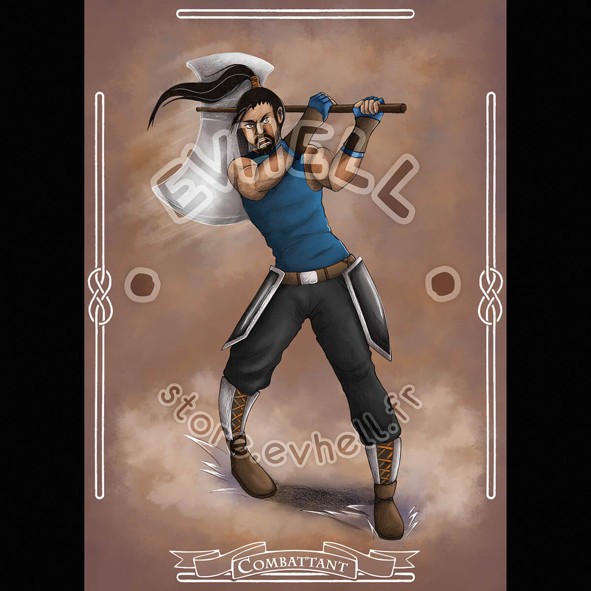 Carte RPG Combattant – Original Character HD