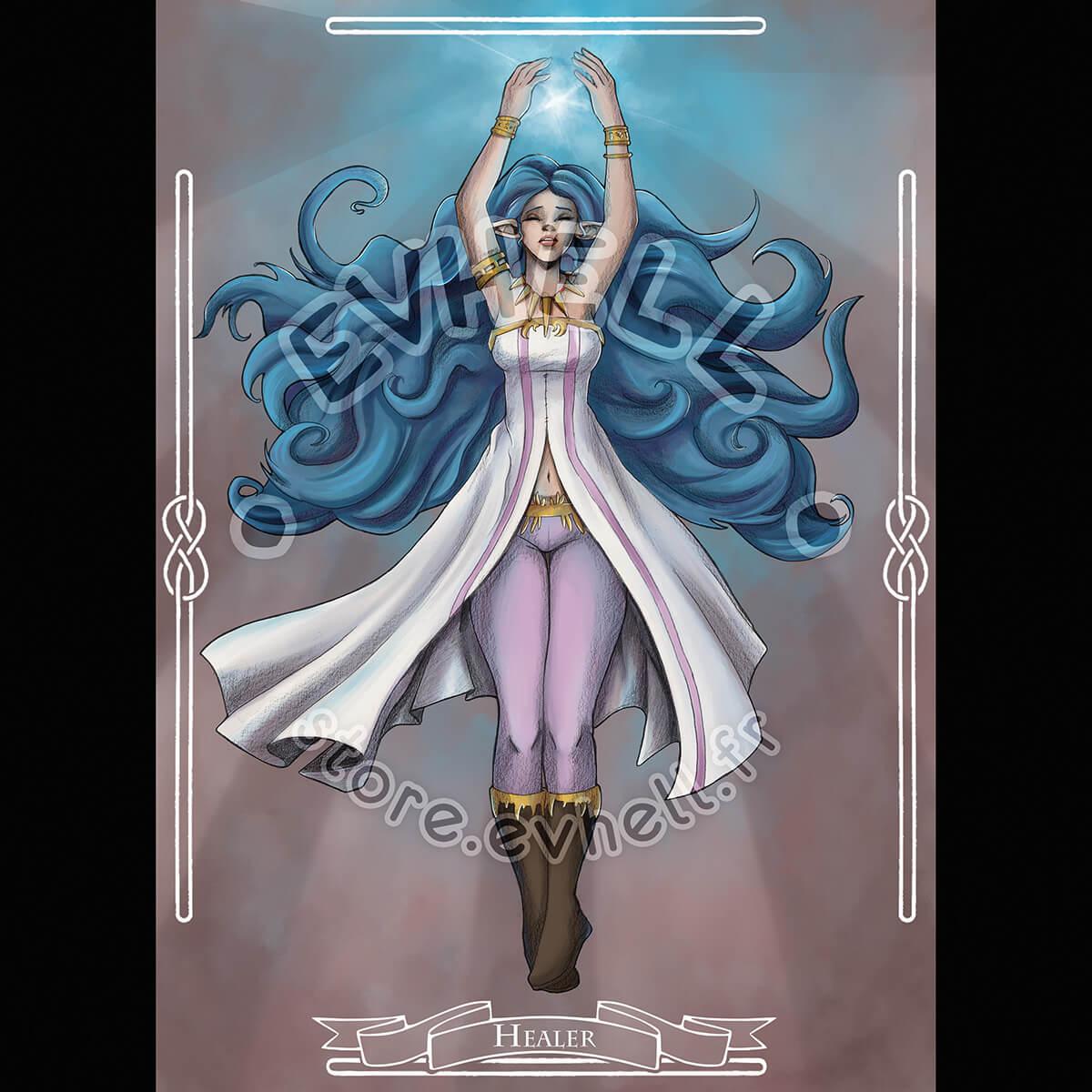 Carte RPG Healer – Original Character HD