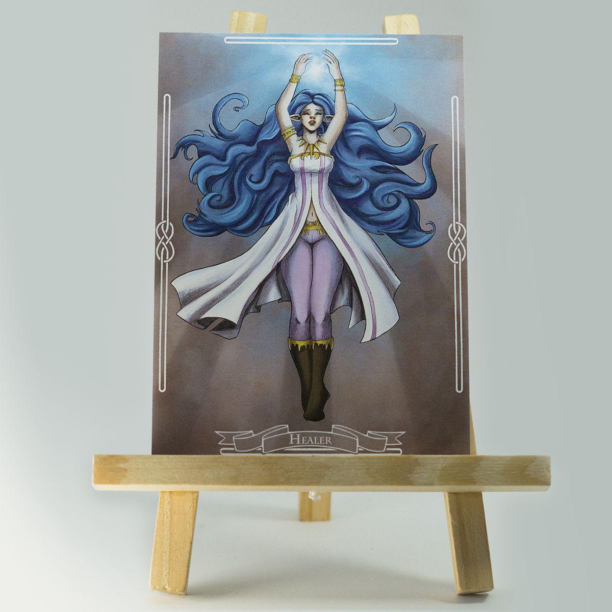 Carte RPG Healer – Original Character