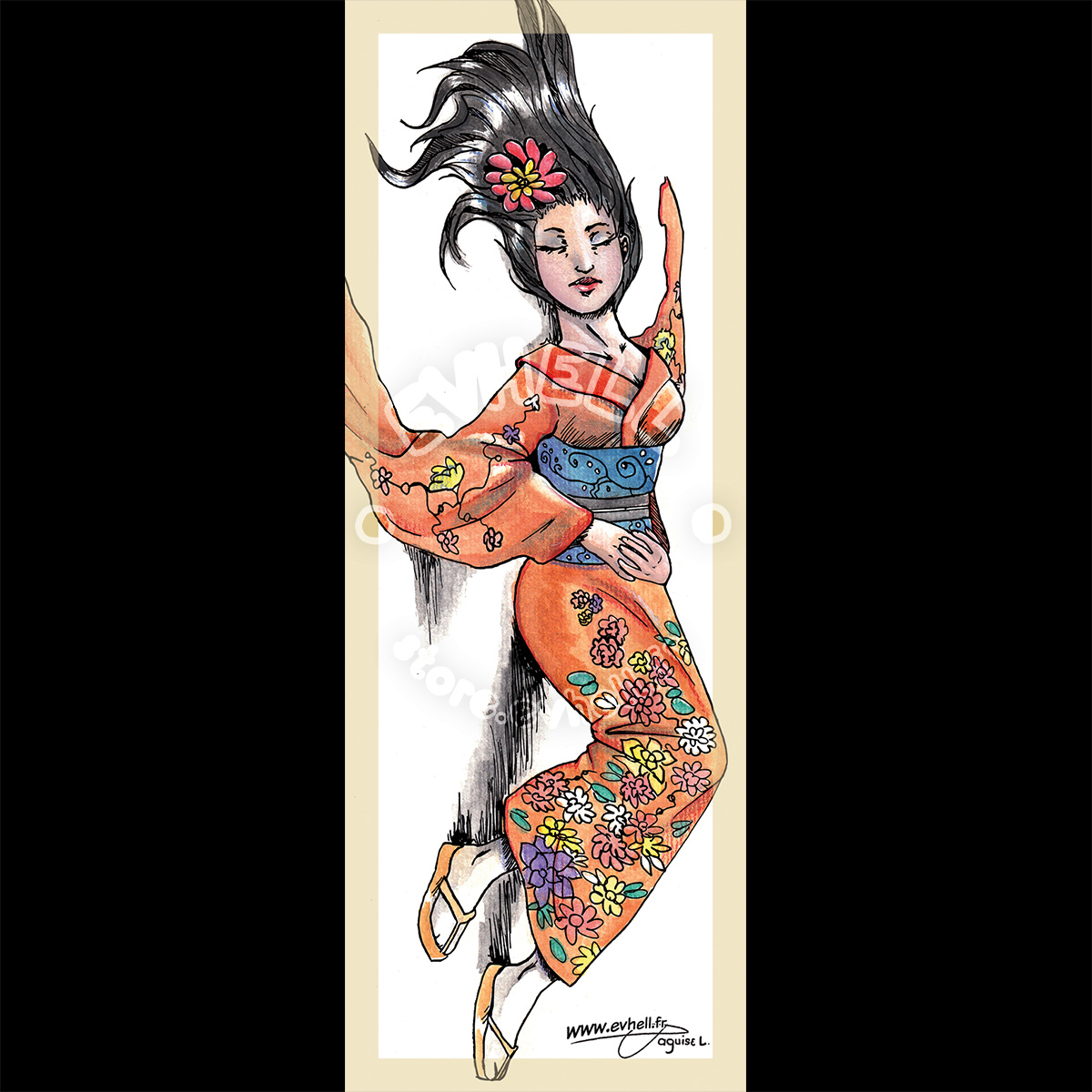 Marque page Geisha – Original Character HD