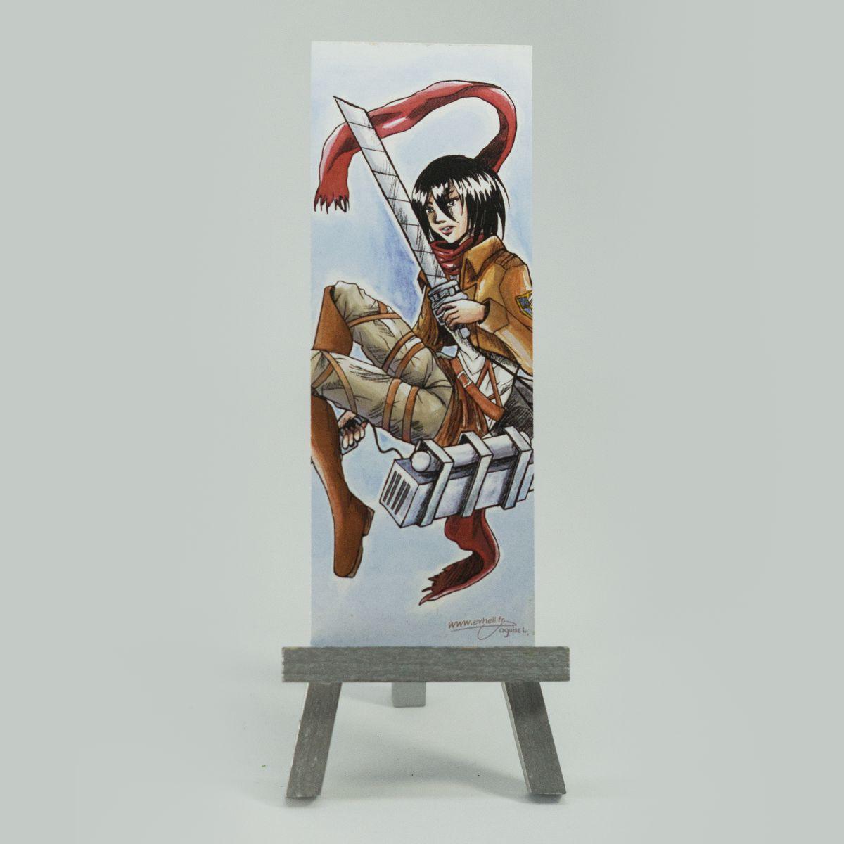 Marque page Mikasa – Attaque des Titans