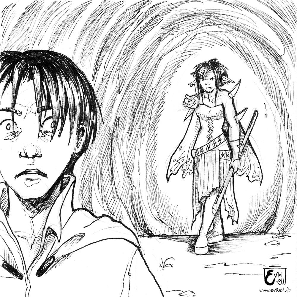 Reinon au premier plan est terrifié que Limi l'ai retrouvé et veuille se venger.