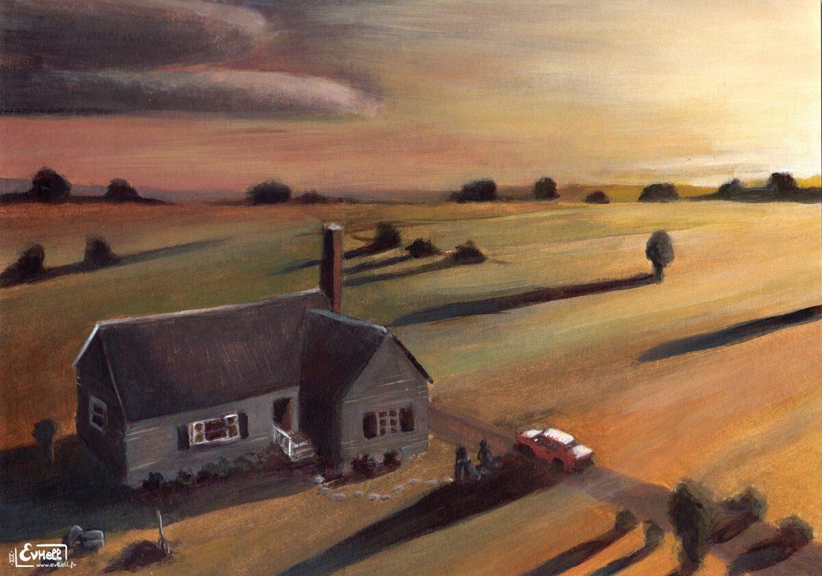 Caroline du Nord - Peinture acrylique