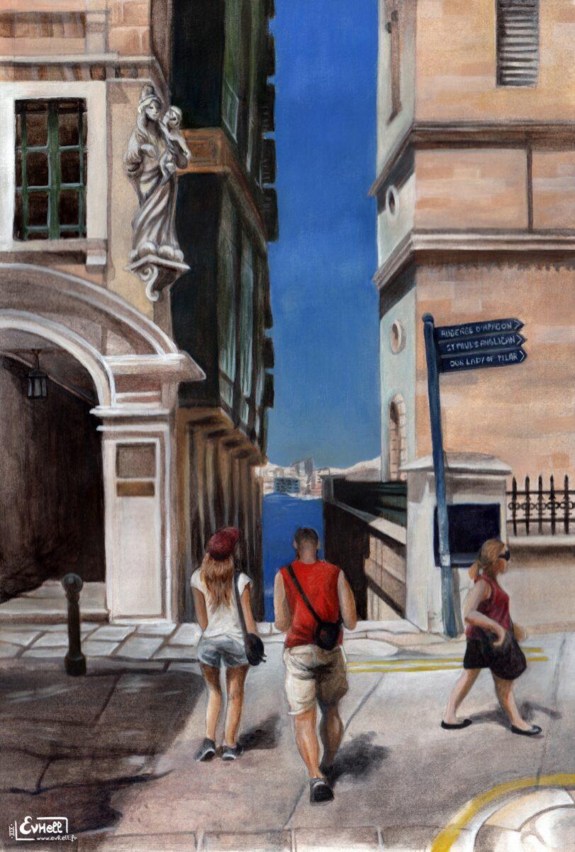 Malta - Peinture acrylique