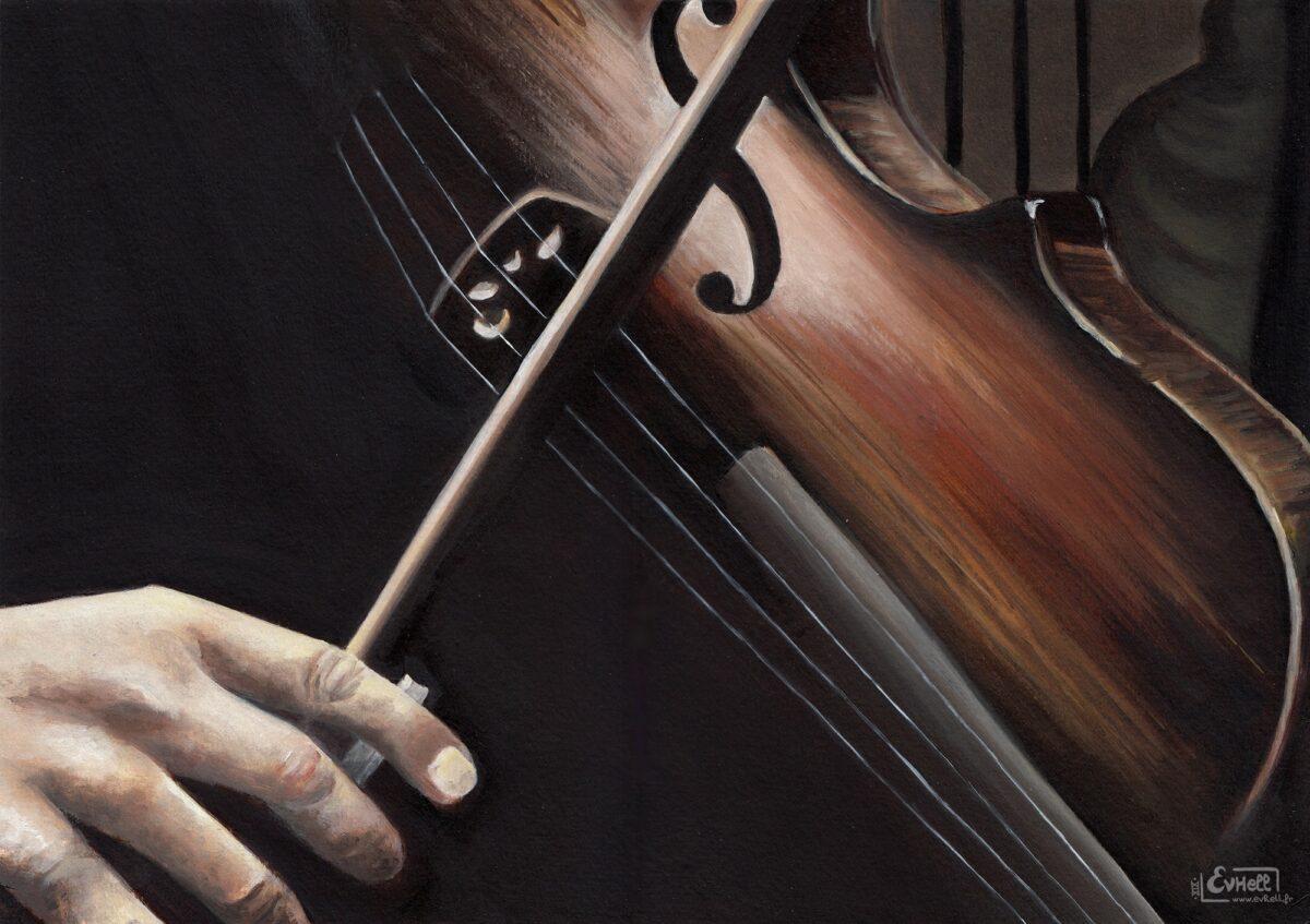 Violon - Peinture acrylique