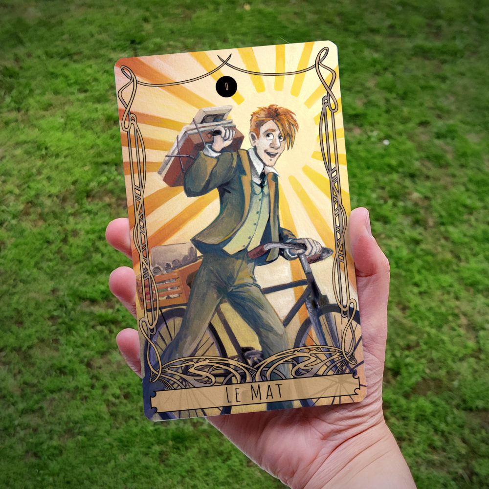 Carte de Tarot : Le Mat (Gustave)