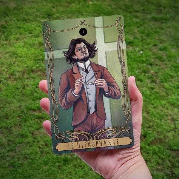 Carte de Tarot : Le Hiérophante (Prof)